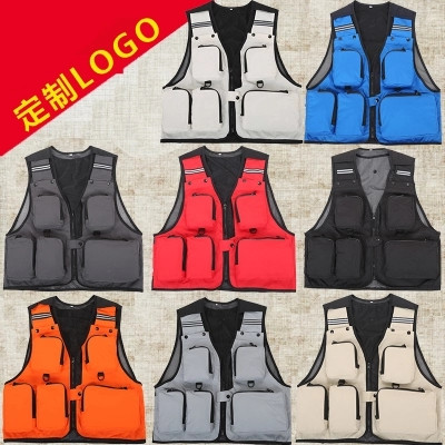Media travel mountaineering team clothes outdoor sports wear-resistant wedding photography vest camera director riding fishing spring and summer