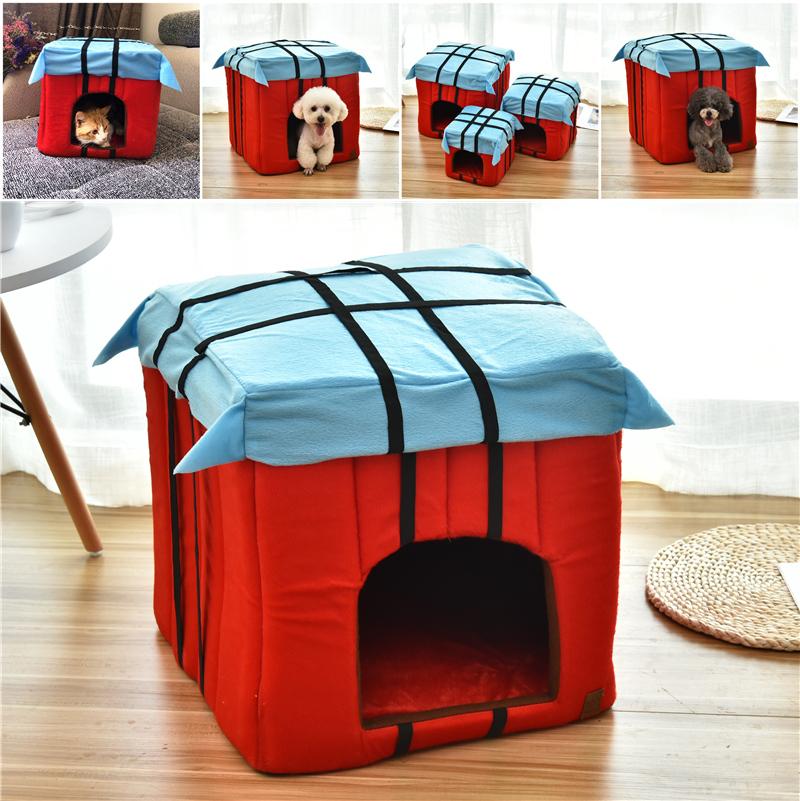 网红猫窝四季通用封闭式猫咪别墅房子型宠物屋泰迪狗狗窝冬季保暖