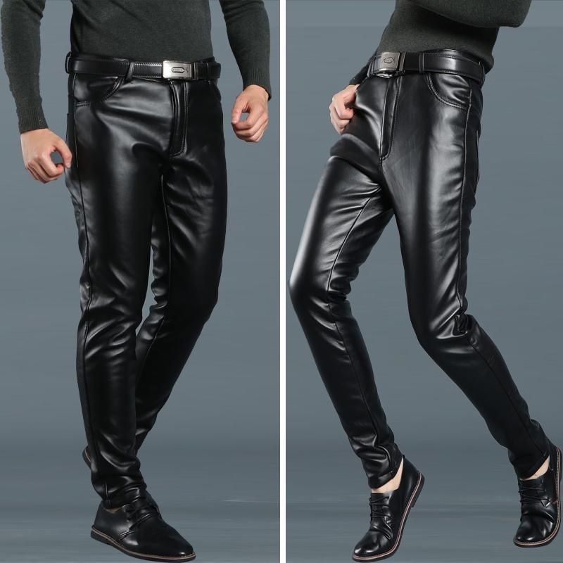 Кожаные брюки Артикул 572851867172