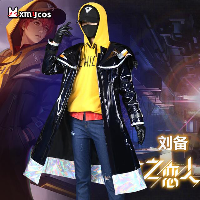 星漫域王者cos服刘备时之恋人游戏情侣日常套装cosplay服装男假发