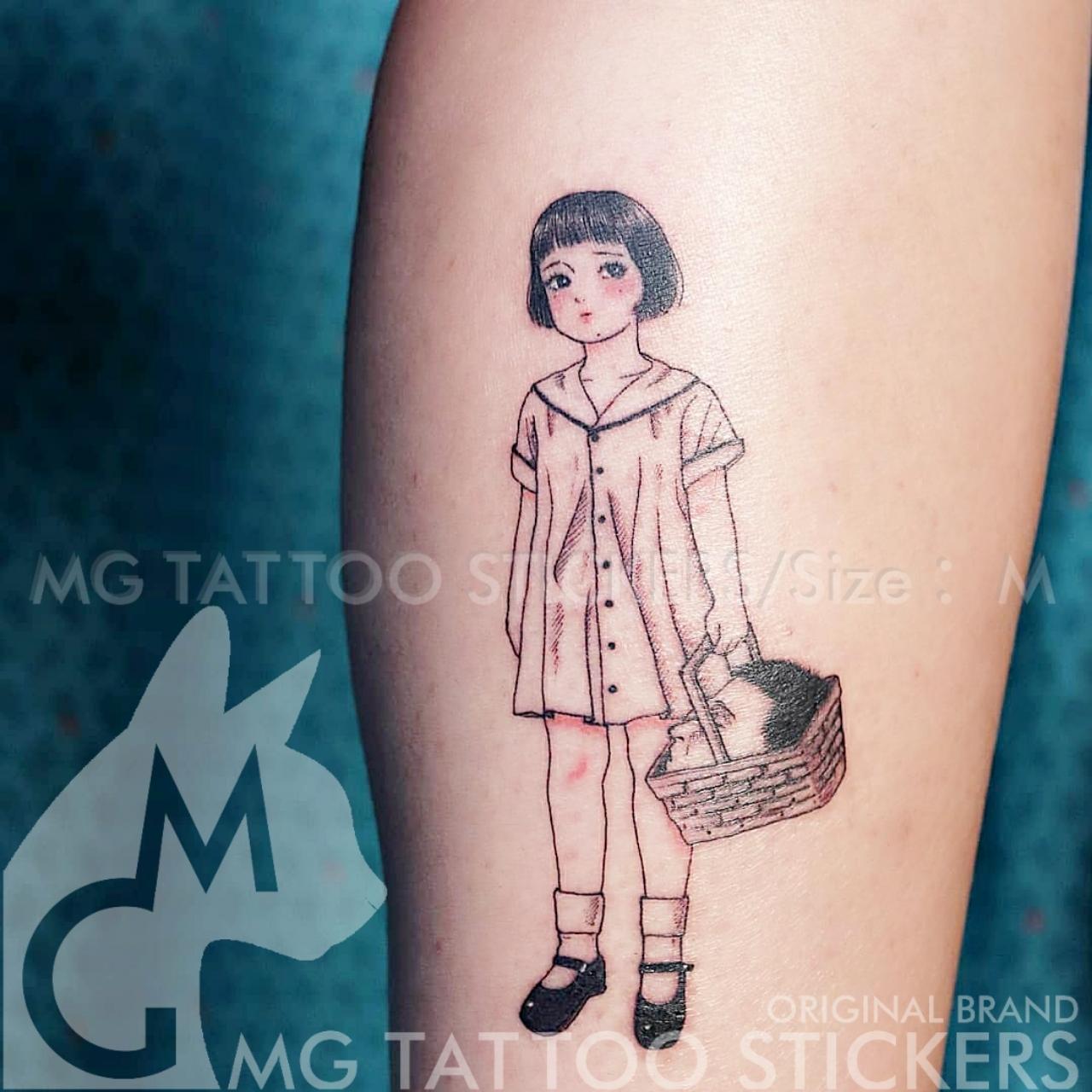 MG纹身贴 INS日系暗黑系神秘主义校园软妹恐漫另类纹身贴纸防水