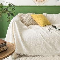 北欧ins风纯色沙发巾盖布四季通用全盖沙发垫套罩全包万能沙发毯