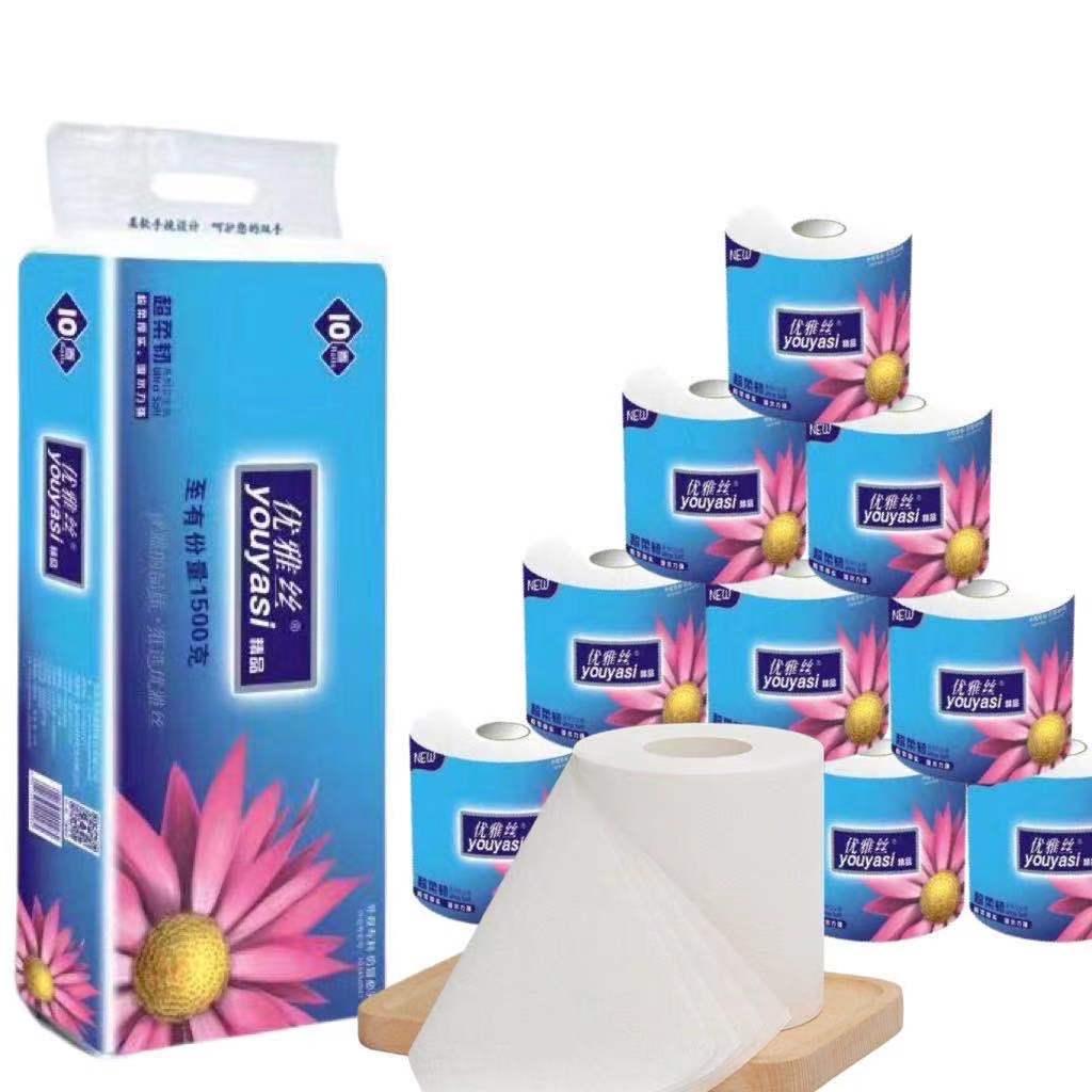 上品な糸巻き紙は家庭用に原木純品を入れます。芯紙20巻の紙ナプキンは箱全体にあります。