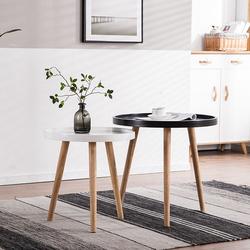 北欧实木茶几简约现代创意沙发边几小户型客厅角几阳台茶几桌组合
