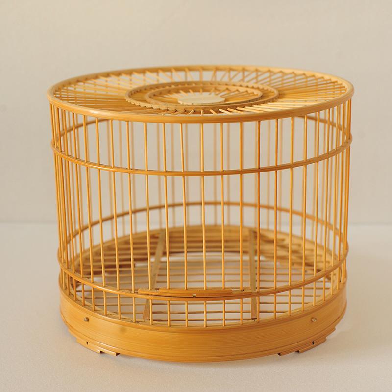 涿州手工制造全竹鸟笼 亮底竹条底篦子底原色做旧56条64条72条