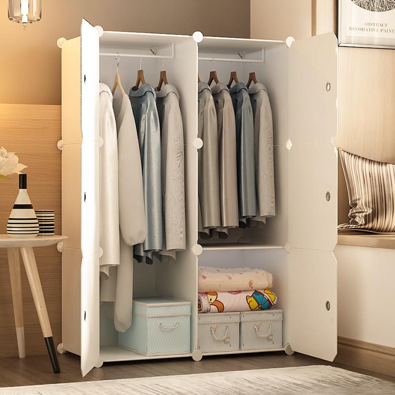 简易衣柜出租房家用卧室现代简约小型宿舍组装布衣橱储物收纳柜子