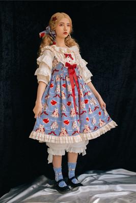 【全款现货】原创正品 *心愿猫* Lolita 猫柄连衣裙JSK