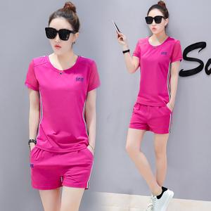 2020新款运动服套装女夏季短款时尚潮韩版短袖短裤休闲两件套短装