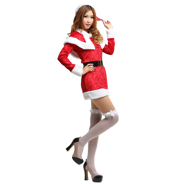 Christmas adult show costume Cosplay show dress female Santa Claus Little Red Riding Hood Christmas skirt