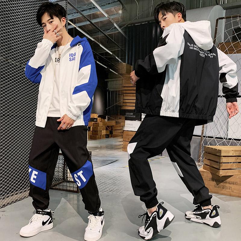 13青少年14潮流男孩15初中学生休闲运动套装16岁高中韩版帅气一套11-19新券