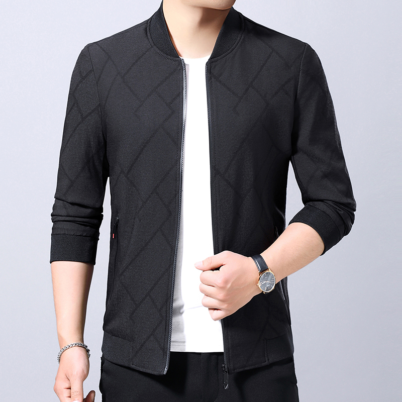Mens coat spring and autumn thin 2019 new top middle aged mens casual business jacket baseball suit