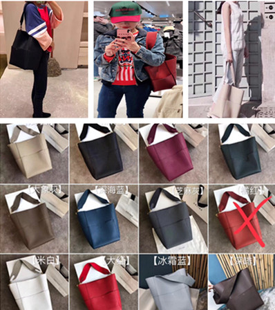 2019 new wide shoulder belt bucket bag leather large shopping bag single shoulder womens bag