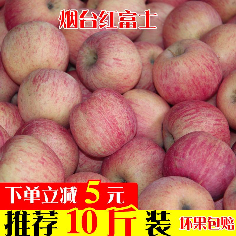 山东烟台栖霞红富士苹果新鲜平果水果 孕妇吃的脆甜现摘现发5斤