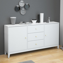 Dining Cabinets Ultra-thin Nordic wind simple modern restaurant lockers narrow 30cm wide Ikea white solid wood Home