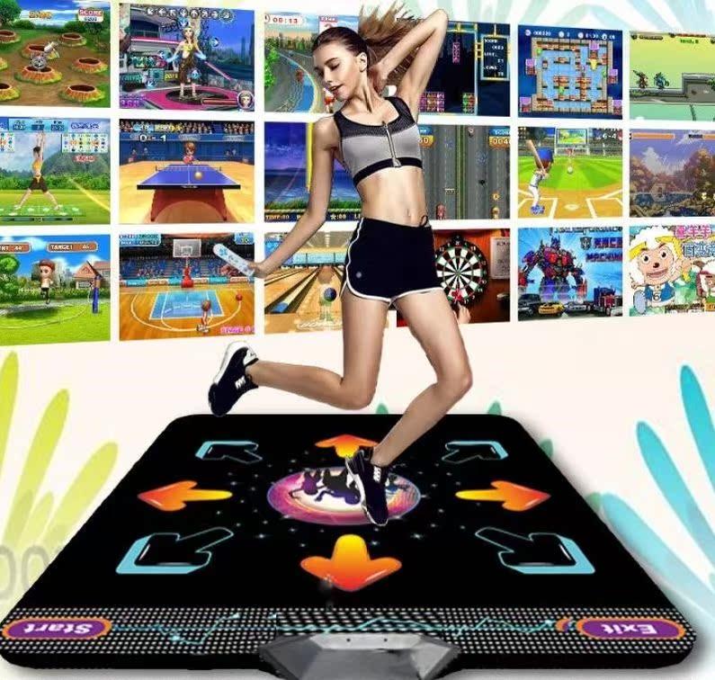 手舞健身电视游戏机体感跳舞家用单人电视加厚家用瑜伽超厚跳舞毯限4000张券