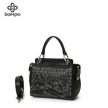 Banpo genuine leather ladies'bag counter with the same style fashion shopping mall with the same type of box handbag with oblique straddle small square bag
