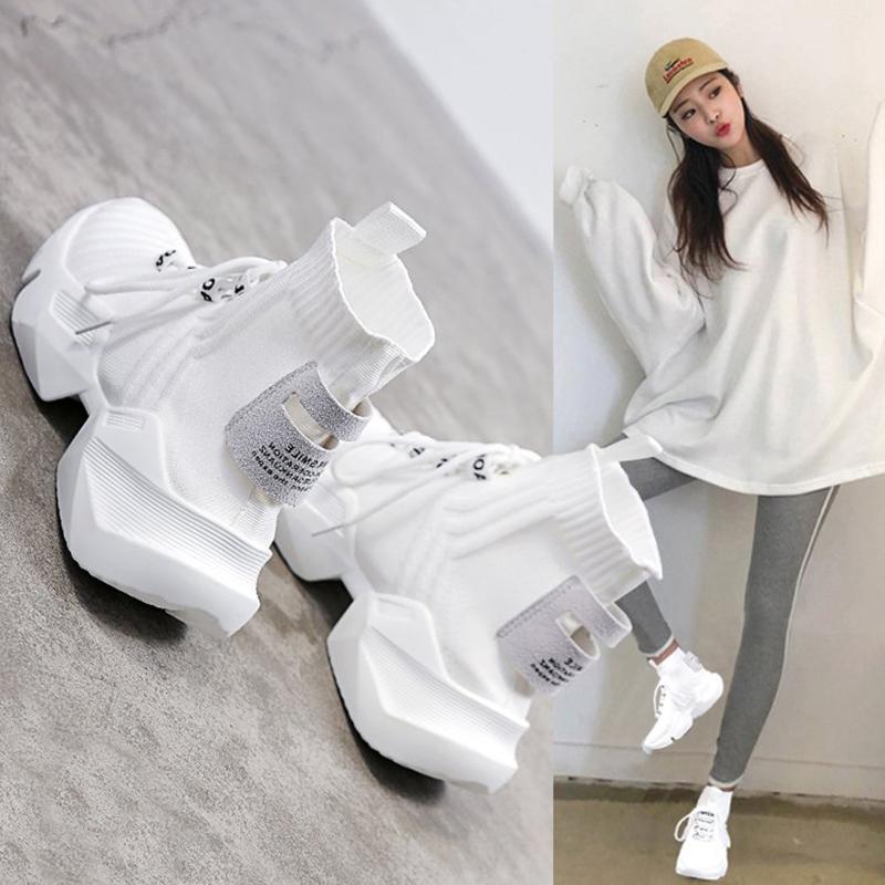 Женские ботинки на платформе / Высокие кроссовки Артикул 597165301790