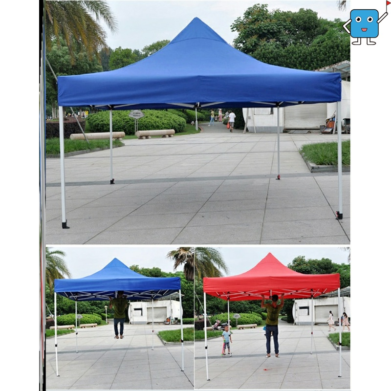 Four corner retractable sunshade awning simple Oxford cloth stable wind proof advertising shed fold firmly to prevent tearing four feet