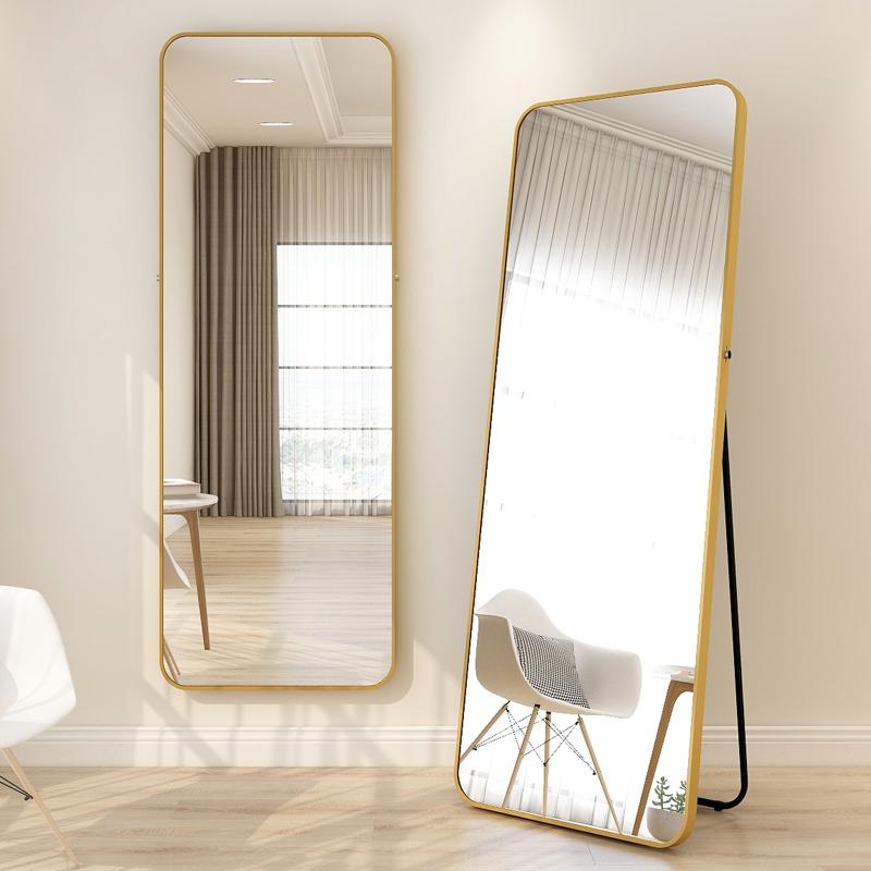 穿衣镜全身镜落地镜家用壁挂试衣镜女生卧室少女立体镜子贴墙网红