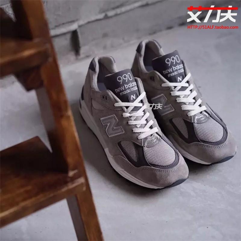 New Balance 美产 990V2系列元祖灰余文乐慢跑鞋运动鞋 M990GR2