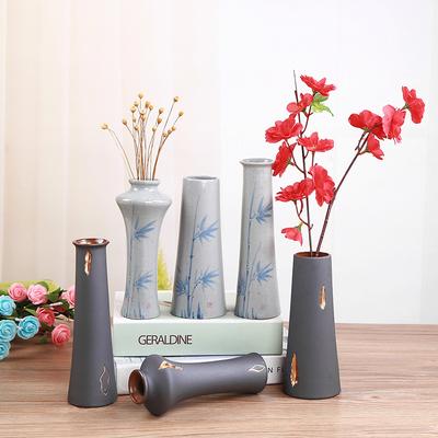 欧式古典陶瓷小清新水培植物插花瓶干花富贵竹白客厅家居装饰摆件