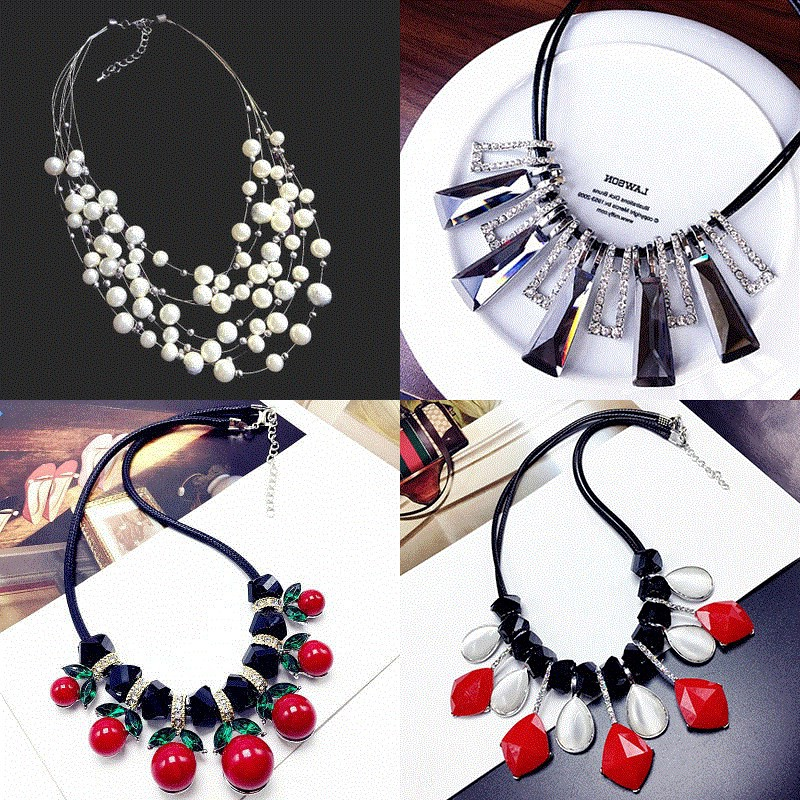 Japan buy sincere European and American style jewelry necklace short womens autumn and winter sweater accessories neckline decoration Necklace lining clothes