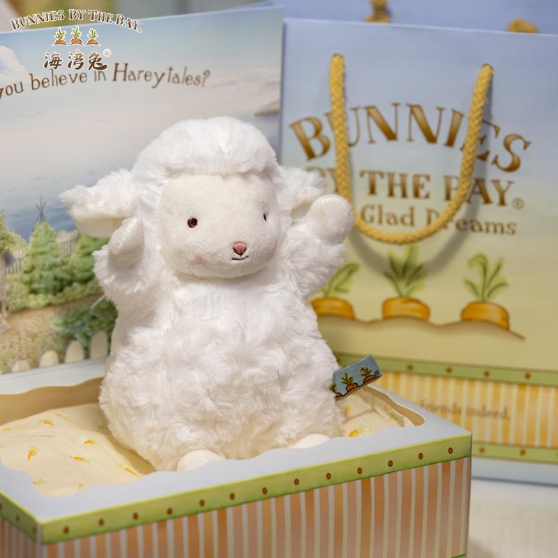 美国bunnies by the bay小羊公仔玩偶女生礼物娃娃毛绒玩具海湾兔
