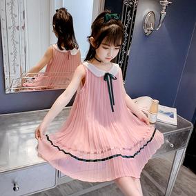 女童夏装2020新款夏款雪纺儿童裙子