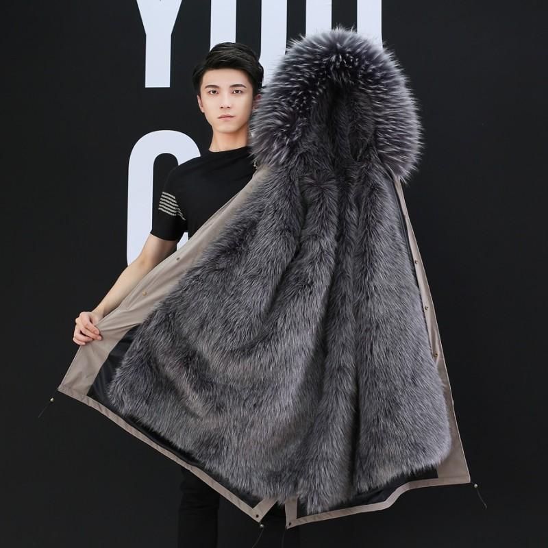 海宁派克服男2020冬季款仿狐狸毛皮草潮牌外套中长款网红同款大衣