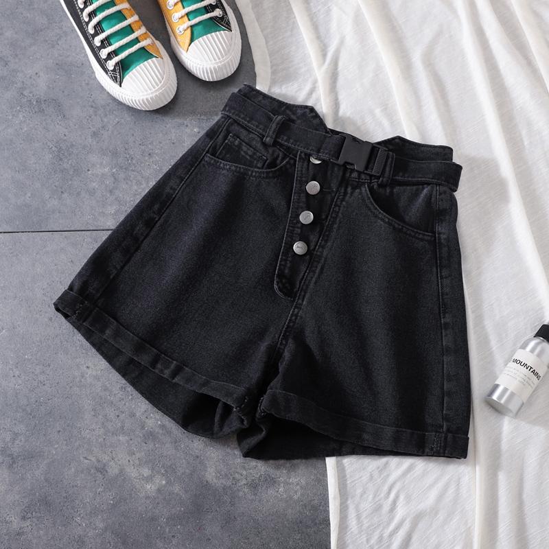 黑色超高腰牛仔2019夏季网红短裤12月02日最新优惠