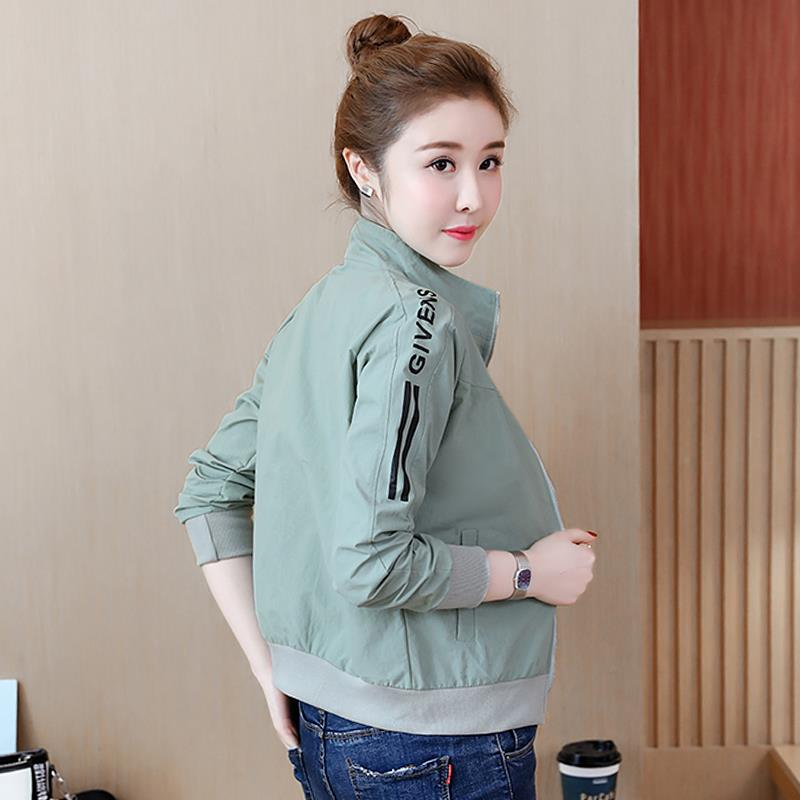Radiation proof sports jacket short coat female spring and summer student small shirt casual sun proof upper garment stand collar outdoor