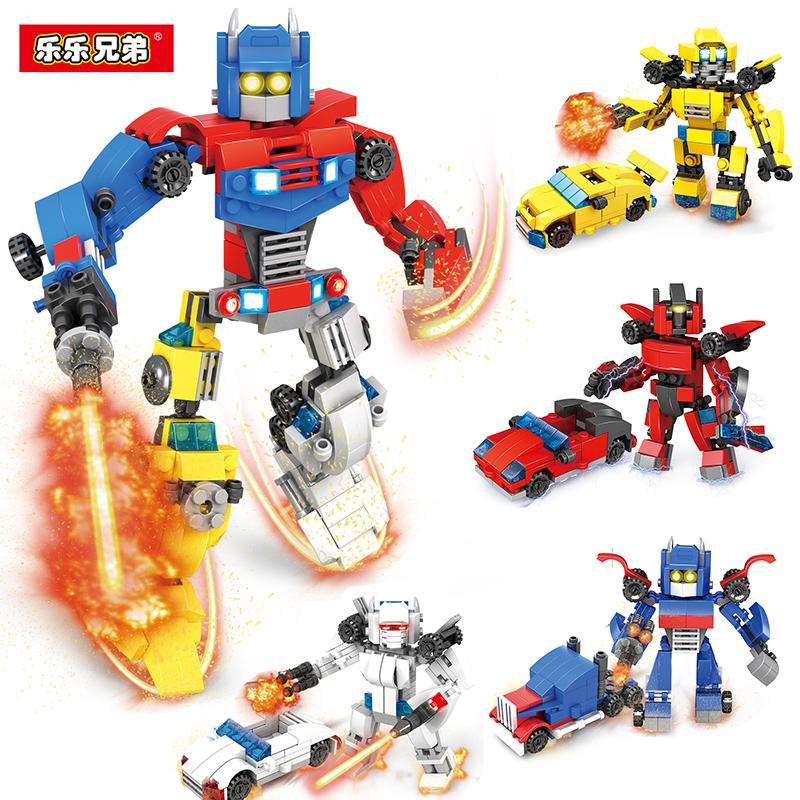 兼容樂高樂樂兄弟拼裝積木變形機器人大黃蜂男孩子10金剛6玩具8歲