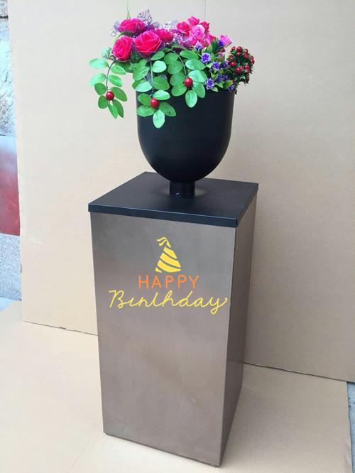 Новый на открытом воздухе украшение забор кофе магазин отрезать заборы цветок квартет форма сетка цветок корыто железо цветок коробка