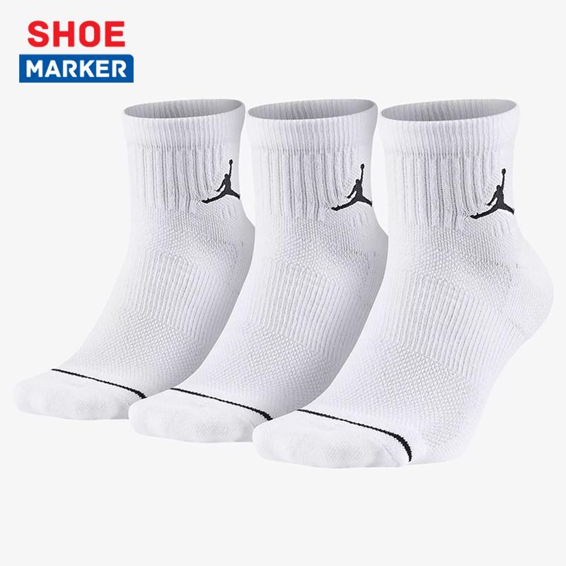 Nike耐克袜子男袜女袜中帮三双装AJ中筒袜短袜跑步运动袜SX5544图片