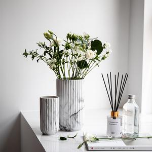 寓义北欧风大理石纹花器陶瓷花瓶