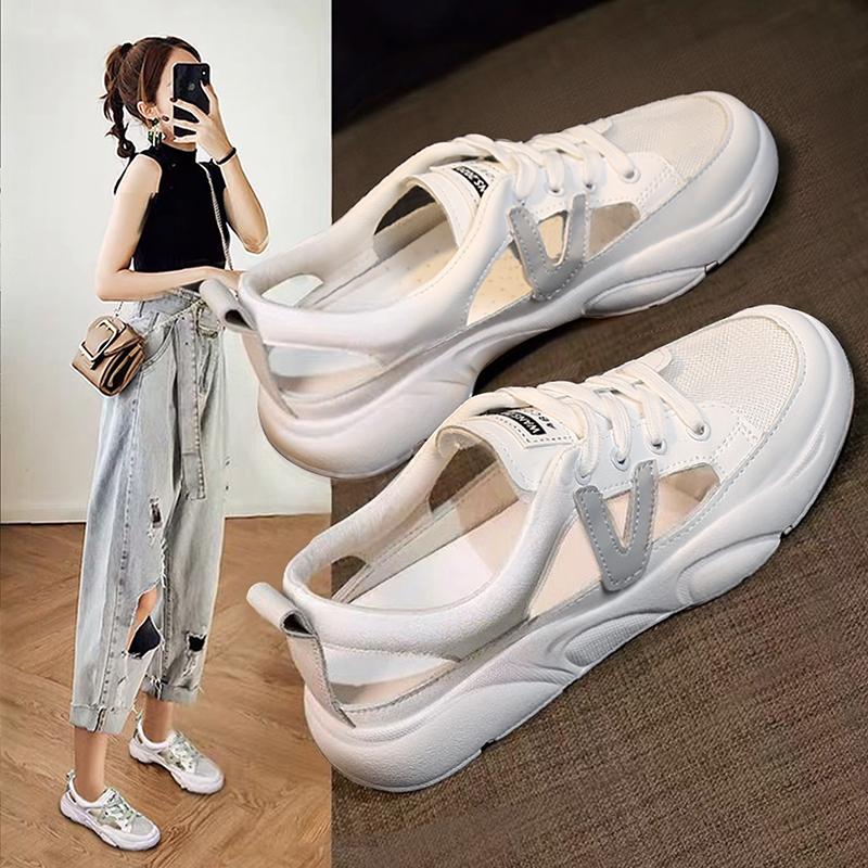 凉鞋小白鞋子女2021年新款夏季女鞋