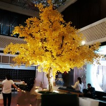 Simulation Ginkgo tree Large wish tree Ginkgo cherry blossom Sycamore Custom Wedding hotel landscape interior decoration fake tree