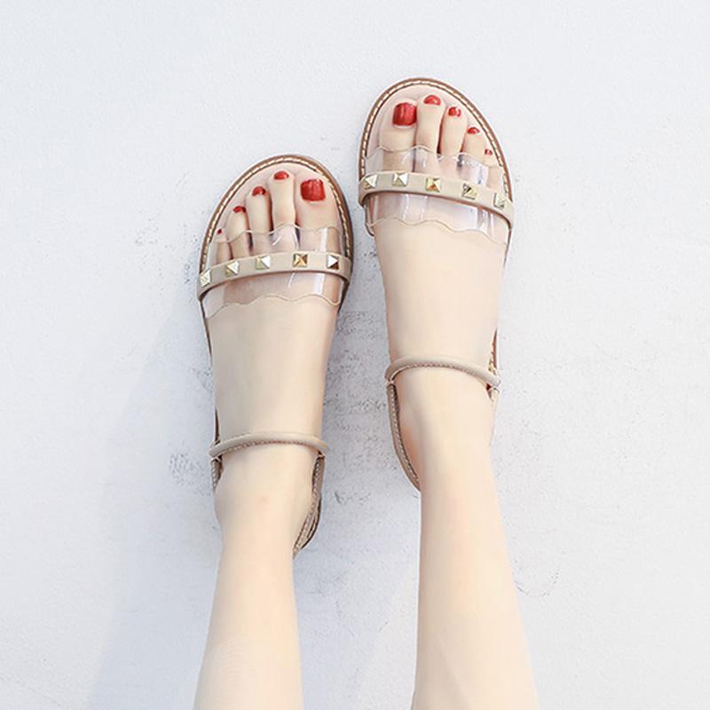 2019夏季新款百搭仙女风学生温柔晚晚鞋网红搭配裙子的凉鞋女平底