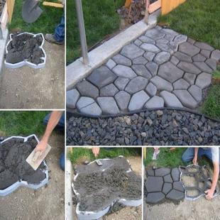 热销园林摊铺欧式彩砖自制简易设计路面庭院涛砖老农果园管理工具