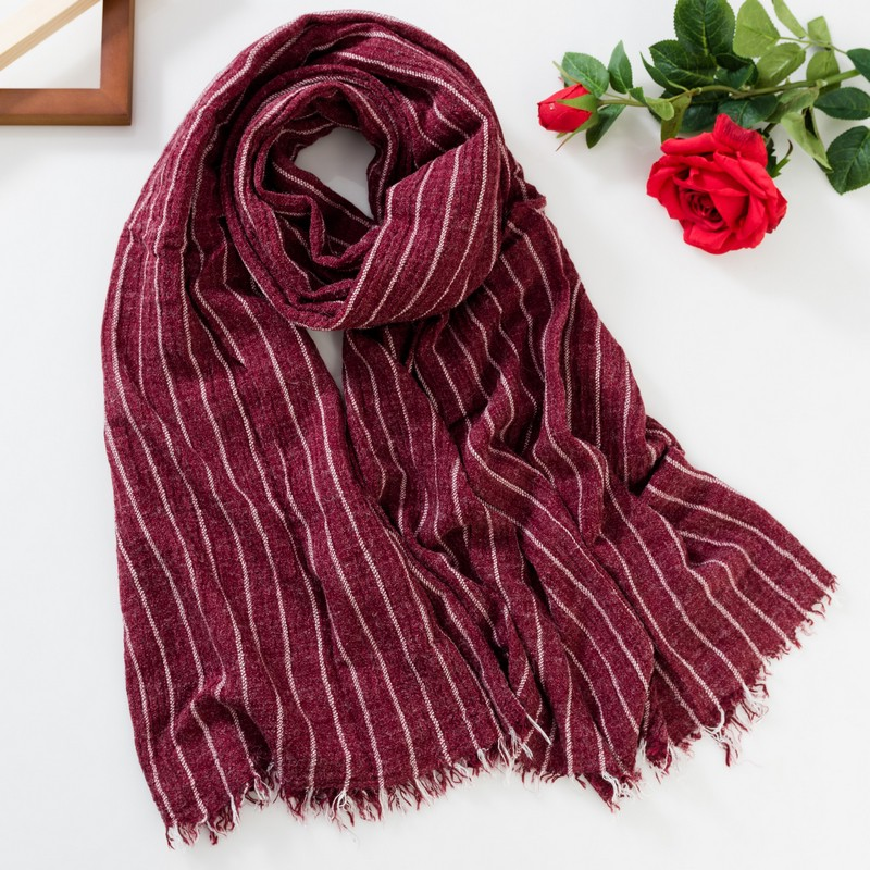 Japanese buy YZ spring and Autumn New Womens Korean stripe warm long scarf South Korea autumn and winter cotton all round Cape