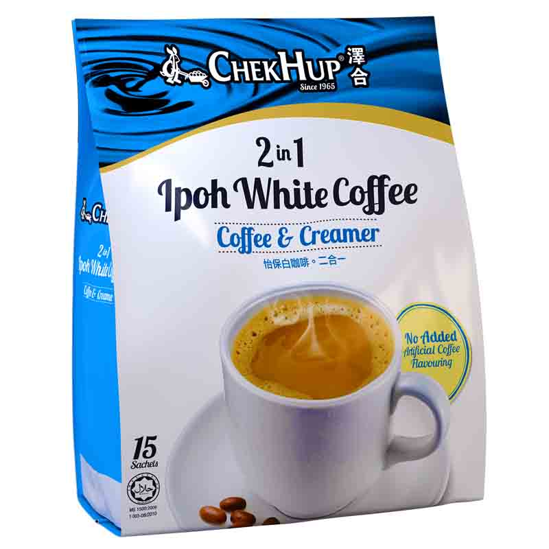Zehe Ipoh white coffee imported from Malaysia two in one white coffee without added sucrose 450g free sugar bag