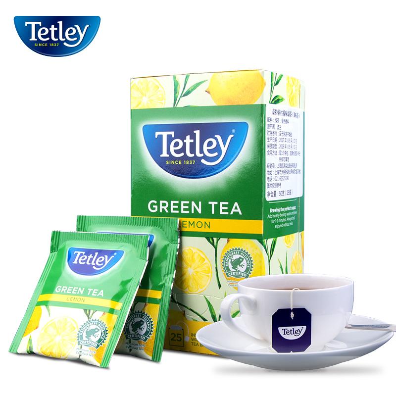 盒装送礼进口茶叶袋泡茶柠檬袋泡茶6泰特莉绿茶Tetley