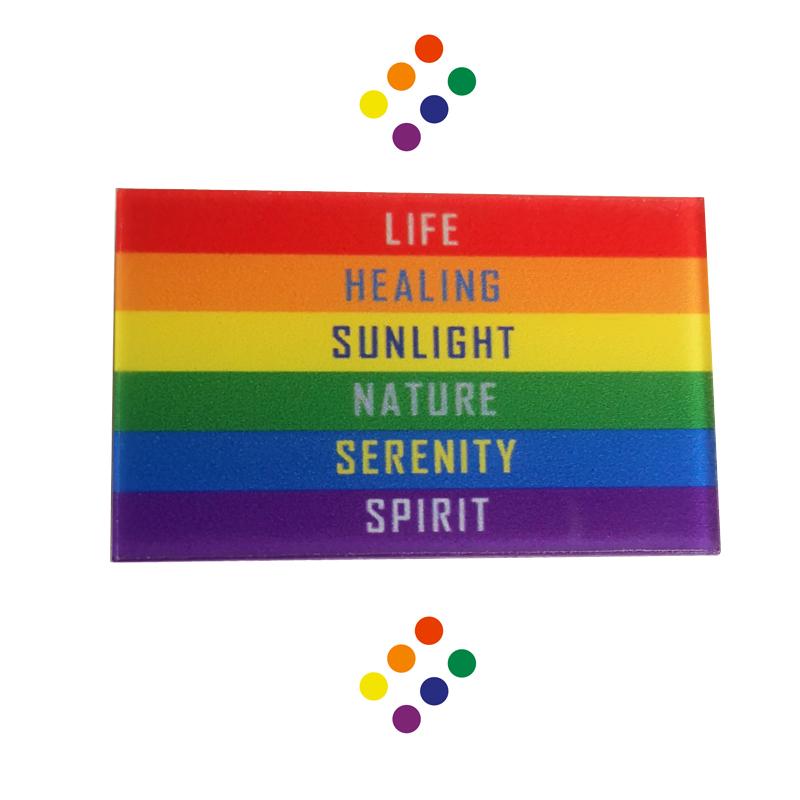 517 rainbow badge logo badge LGBT medal Brooch lesbian Jewelry Pin
