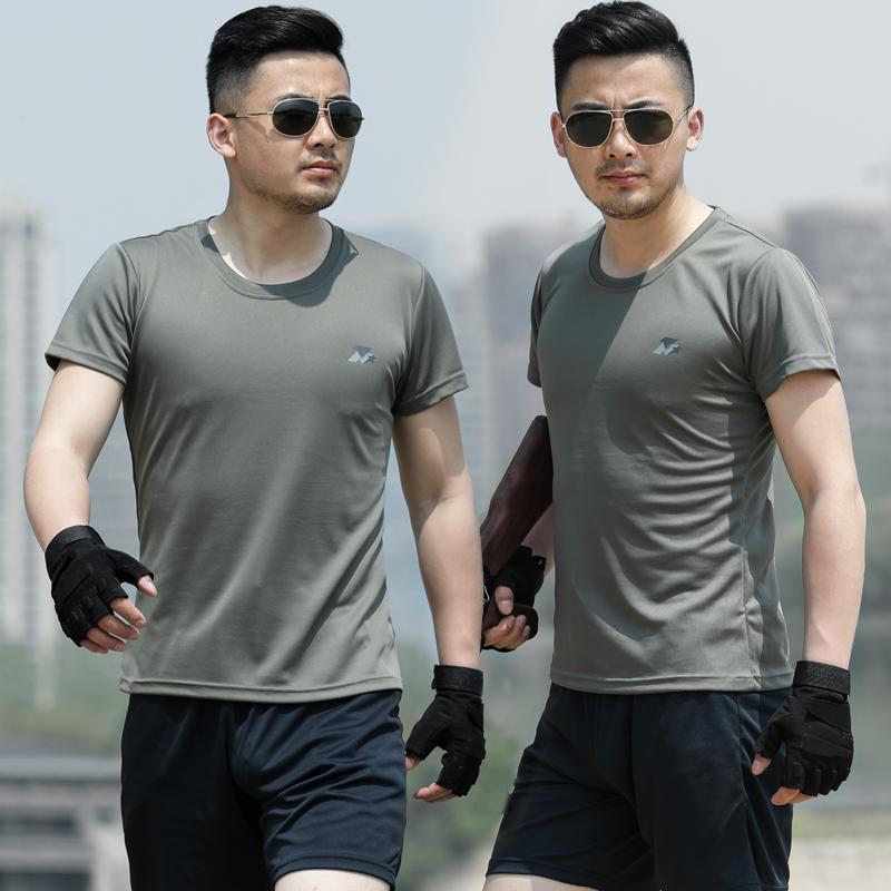 07体能训练服正品夏季短袖作训套装男迷彩服特种兵战术秋军迷T恤
