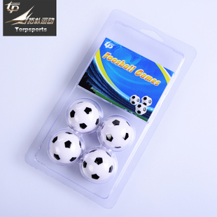 拓朴运动 桌上足球机专用球足球 足球机配件 黑白小足球 3个尺寸