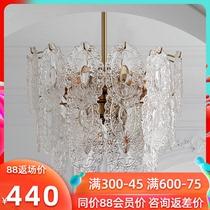 法式轻奢卧室水晶吊灯美式复古玻璃餐厅灯北欧现代灯欧式客厅吊灯