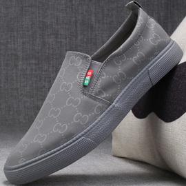 男士老北京布鞋2020新款秋季开车透气一脚蹬懒人男式休闲潮男鞋子