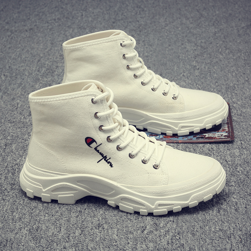 Men's shoes fashion shoes 2020 new small white shoes men's high top boots Korean Trend men's breathable casual shoes