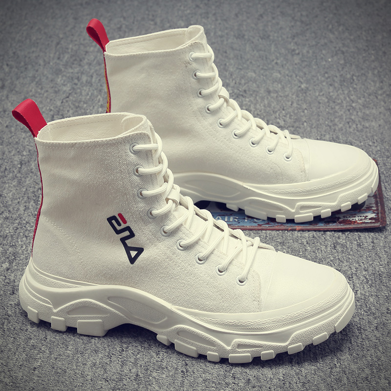 Martin boots men's versatile 2020 new high top shoes men's Korean Trend men's casual gaobang small white canvas boots