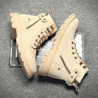 2020春季新款高帮加绒百搭马丁靴